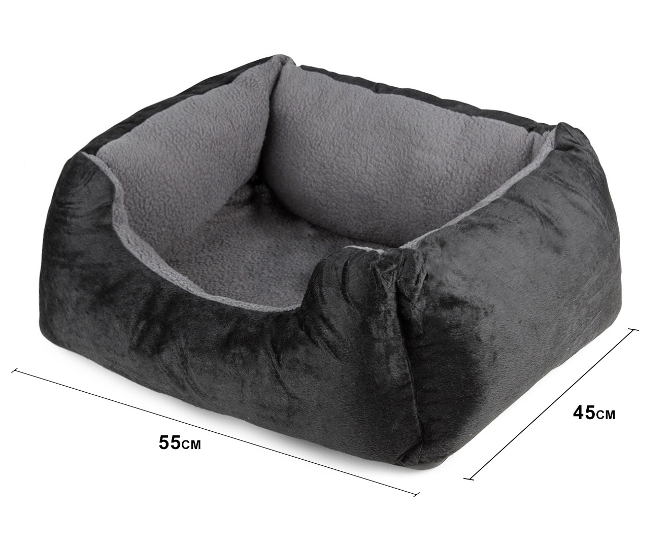 Heated Pet Bed With Walls By Tail Waggers 55x45cm For