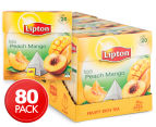 4 x Lipton Peach Mango Black Tea Bags 20pk 1