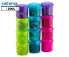 Sistema 120mL Klipo Round Coloured Container 12-Pack - Multi 1