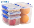 Sistema Klip It Food Storage Container 4-Pack - Clear/Blue 1