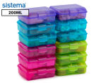 Sistema 200mL Klipo Rectangular Coloured Container 12-Pack - Multi 1