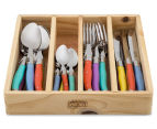 French-Inspired Replica Château 24-Piece Cutlery Set - Pastel 2