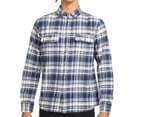 OBEY Men's Cobain Flannel Shirt - Blue 2