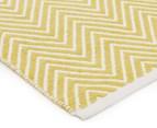Dreamy Cotton Flatweave 270x180cm Reversible Rug - Yellow 2