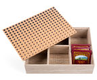 Wooden 24cm Cork-Top Tea Box 2