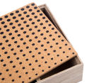 Wooden 24cm Cork-Top Tea Box 6
