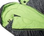 Caribee Moonshine Twin Set Sleeping Bag - Charcoal/Spring Green 3
