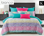 Bianca Tisha King Bed Quilt Cover Set - Multi 1