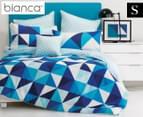 Bianca Cruze Single Bed Quilt Cover Set - Blue 1