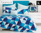 Bianca Cruze King Bed Quilt Cover Set - Blue 1