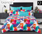 Bianca Macen Queen Bed Quilt Cover Set - Multi 1