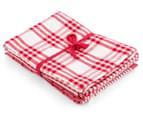 RANS Milan Stripe & Check Tea Towels 5-Pack - Red 2