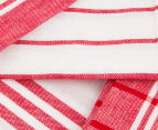 RANS Milan Stripe & Check Tea Towels 5-Pack - Red 5