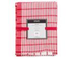 RANS Milan Stripe & Check Tea Towels 5-Pack - Red 6