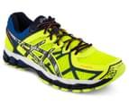 ASICS Men's GEL-Kayano 21 Lite-Show Shoe - Flash Yellow/Silver/Blue 2