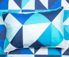 Bianca Cruze King Bed Quilt Cover Set - Blue 5