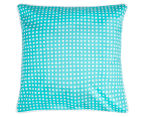 Bianca Macen European Pillowcase - Turquoise/White 1