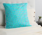 Bianca Macen European Pillowcase - Turquoise/White 2