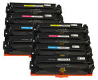 Pro Colour CF400X #201X Series Premium Toner Cartridges For HP Printers - Assorted 8-Pack 1