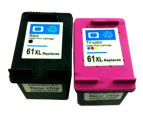 61XLBk 61XLC Remanufactured Inkjet Cartridge 2-Pack (New Chip) For HP Printers 1