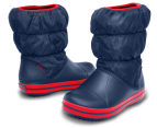 Crocs Kids' Winter Puff Boot - Navy/Red 5