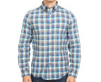 Ben Sherman Men's Oxford Multi Check Shirt - Ash 2