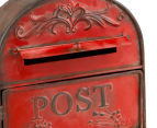 Vintage Decorative 35x25cm Post Box - Red 4