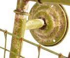 Vintage 20cm Handlebar Basket - Distressed Green 6