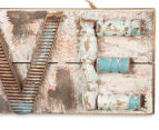 LOVE 45x16cm Handcrafted Aged-Timber Wall Hanging 4