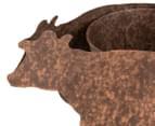 Cow Pot Planter - Rust 4