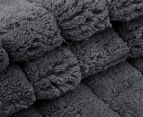 Casual Elegance Velour 45x75cm Bath Mat 2-Pack - Charcoal 3
