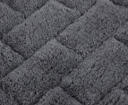 Casual Elegance Velour 45x75cm Bath Mat 2-Pack - Charcoal 5