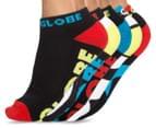 Globe Men's Size 7-11 Destroyer Ankle Sport Socks 5-Pack - Assorted 1
