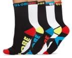 Globe Men's Size 7-11 Destroyer Crew Sport Socks 5-Pack - Assorted 1
