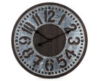 Metallic 60cm XL Contra Clock - Brown 1