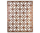 Laser Cut Rustic Geometric 108x90cm Metal Wall Hanging Screen 1