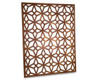 Laser Cut Rustic Geometric 108x90cm Metal Wall Hanging Screen 2