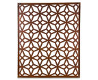 Laser Cut Rustic Geometric 108x90cm Metal Wall Hanging Screen 3
