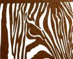 Classique Collection Hi-Gloss Textured Zebra Profile Wall Art 4