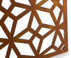 Laser Cut Rustic Geometric 108x90cm Metal Wall Hanging Screen 4