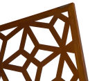 Laser Cut Rustic Geometric 108x90cm Metal Wall Hanging Screen 6