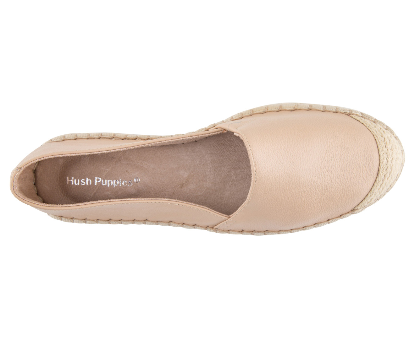 Hush Puppies Women s Hope Flats - Nude Leather  3571243c81
