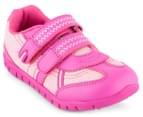 Clarks Kids' Hayden Shoe - Fluro Pink 2