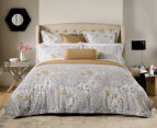 Sheridan Flourish Queen Bed Standard Quilt Cover Set & Fitted Sheet - Sand 2