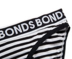 2 x Bonds Girls' Wideband Bikini - Stripe 63 3