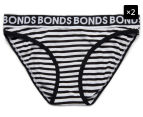 2 x Bonds Girls' Wideband Bikini - Stripe 63 1