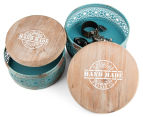 Set Of 2 Nested Metal Round Boxes 2