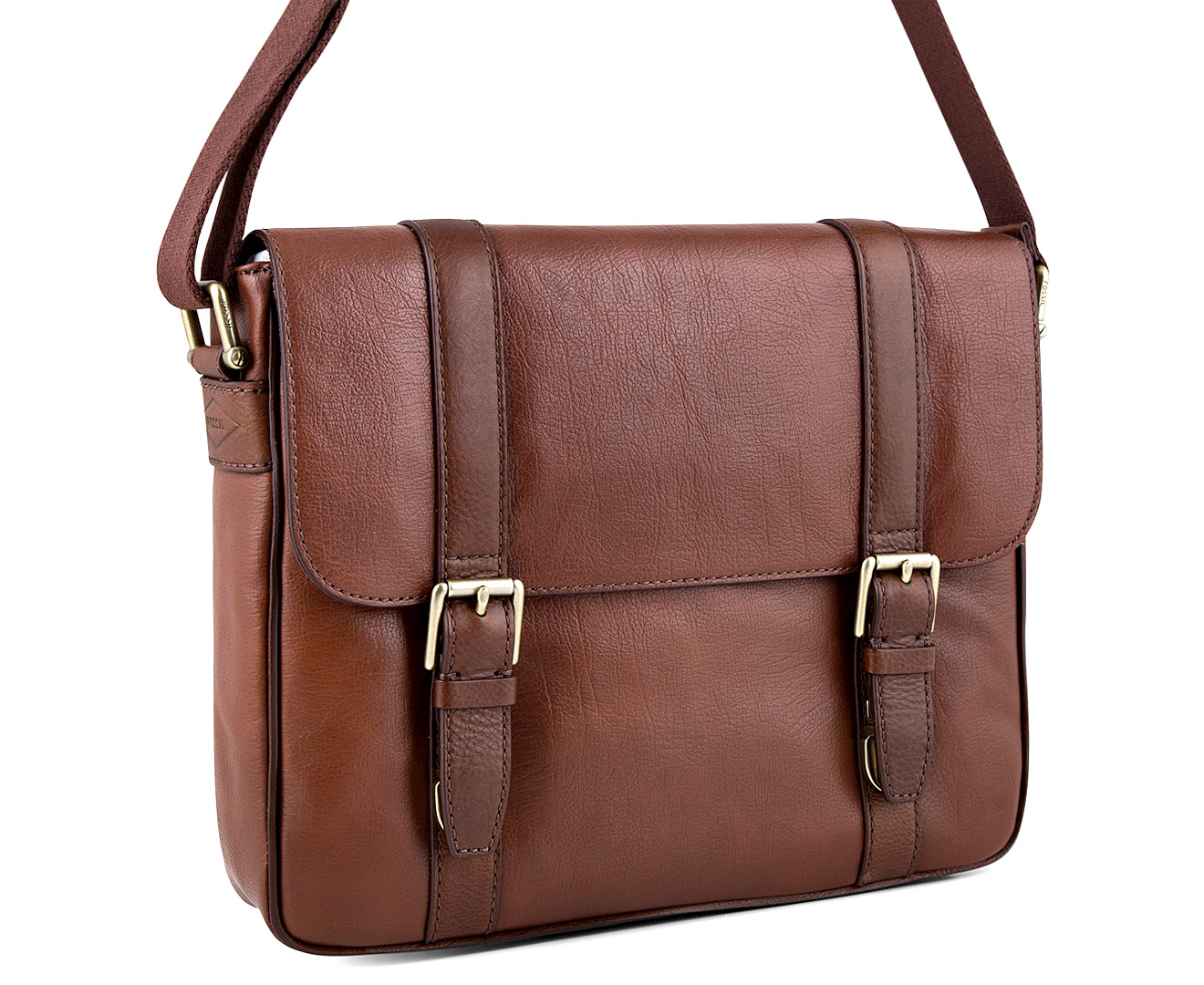 Fossil Men s Estate EW City Bag - Cognac  06b09d360f1c5
