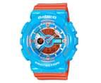 Casio Baby-G Women's 43mm BA-110NC-2A Watch - Blue/Orange 1