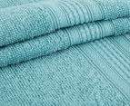 Luxury Living Velour 40x60cm Hand Towel 4-Pack - Turquoise 2